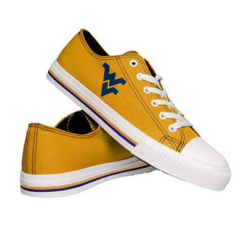 West Virginia Mountaineers Shoes - Mens Low Top Big Logo Canvas