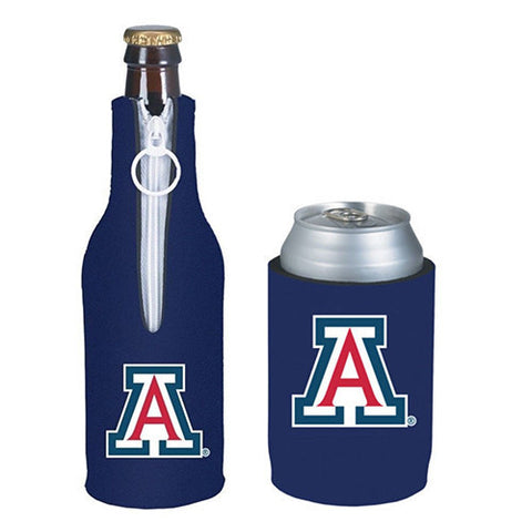 Arizona Wildcats Koozie - Can & Bottle Koozie Combo