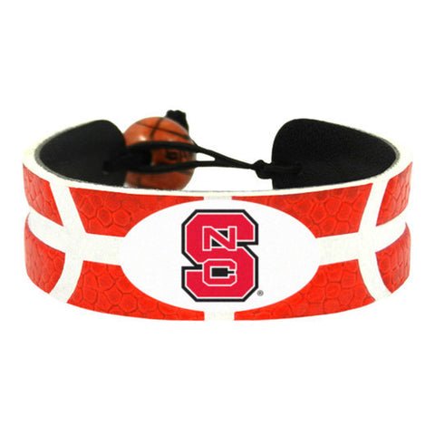 NC State Wolfpack Leather Basketball Bracelet