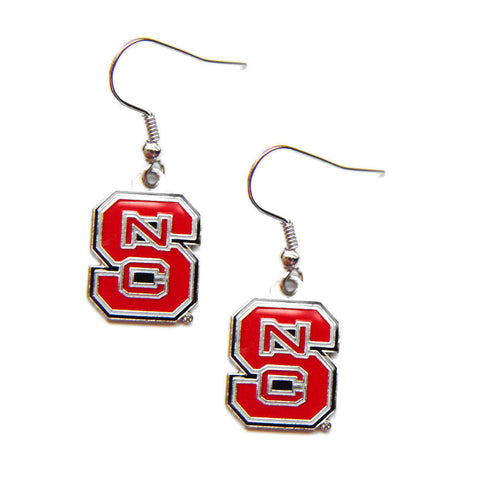 NC State Wolfpack Logo Dangle Earrings