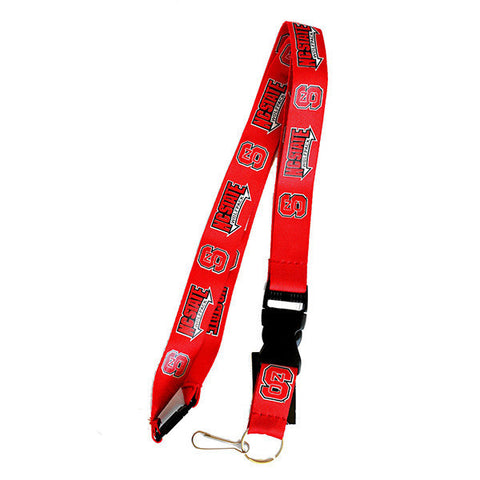 NC State Wolfpack Lanyard - Detachable Keychain