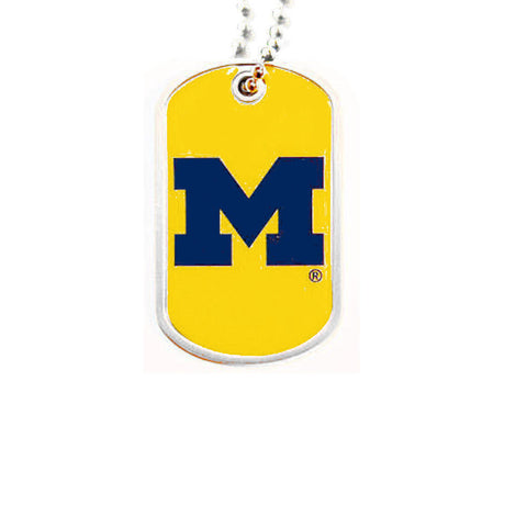 Michigan Wolverines Necklace - Dog Tag Necklace