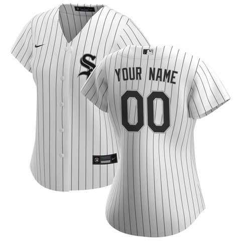 Chicago White Sox Jersey - Custom Name and Number - Women's White