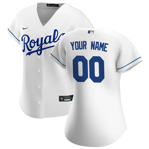 Kansas City Royals Jersey - Custom Name and Number - Women's White