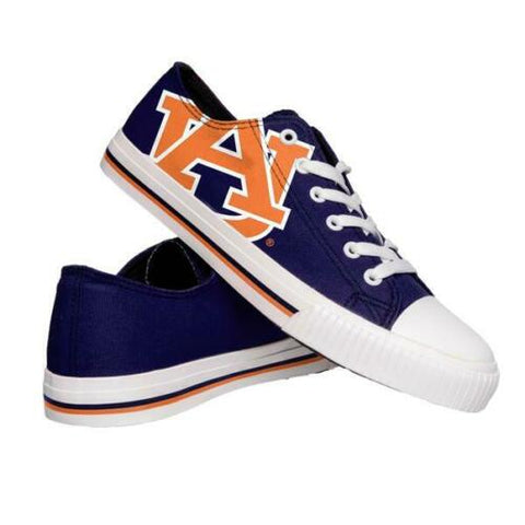 Auburn Tigers Shoes - Mens Low Top Big Logo Canvas