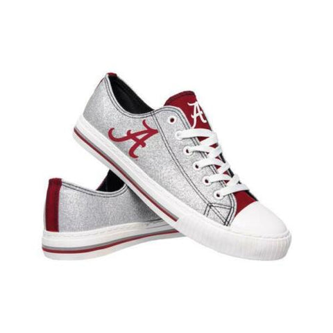Alabama Crimson Tide Shoes - Womens Glitter Low Top Canvas Shoe