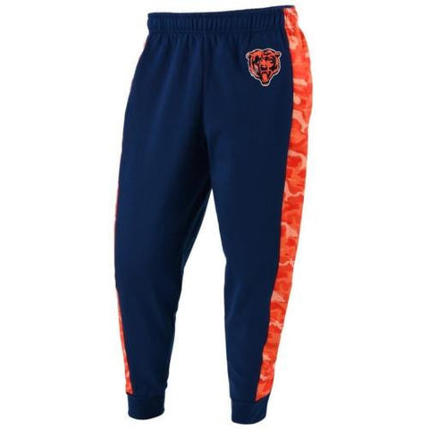 Chicago Bears Pants - Mens Printed Poly Insert Camo Stripe Jogger Pants