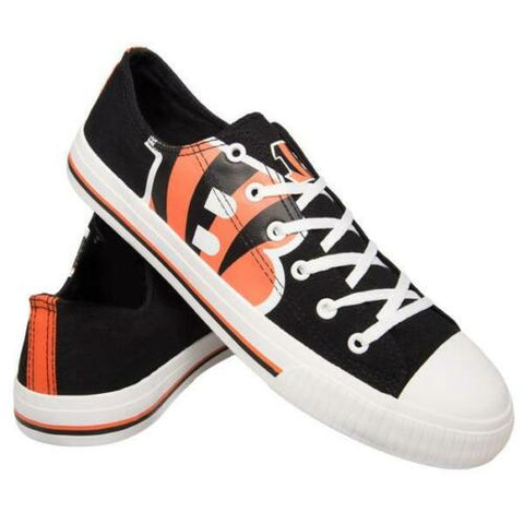 Cincinnati Bengals Shoes - Men's Low Top Canvas Logo Shoe