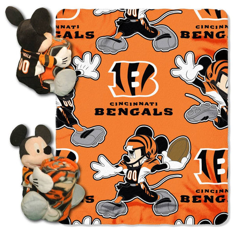 Cincinnati Bengals Blanket - Mickey Hugger and Fleece Throw Set
