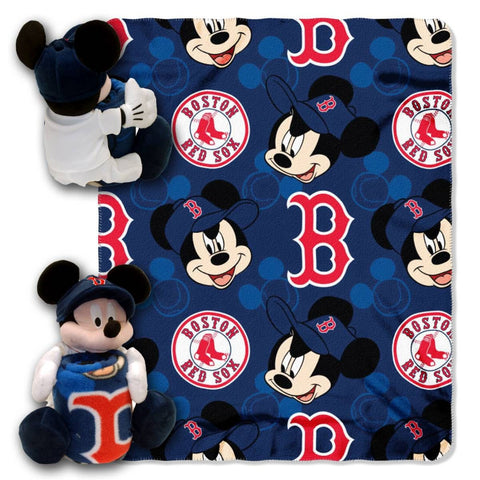 Boston Red Sox Blanket - Mickey Hugger and Fleece Throw Set