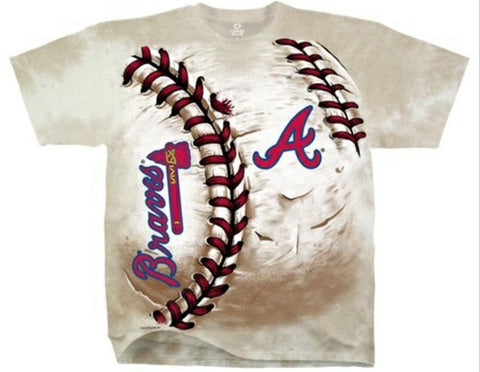 Atlanta Braves Shirt - Tie Dye Hard Ball T-Shirt