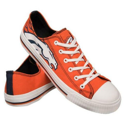 Denver Broncos Shoes - Men's Low Top Canvas Logo Shoe