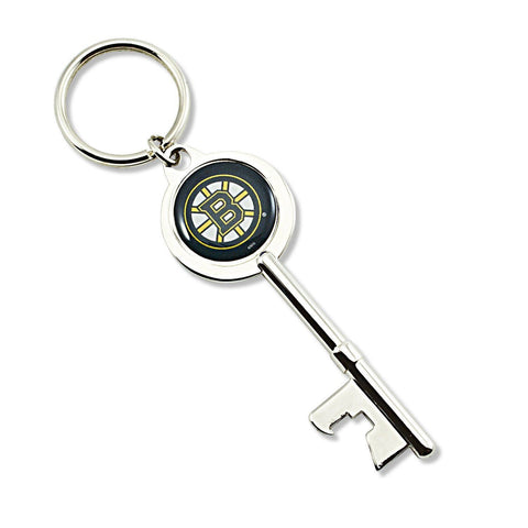 Boston Bruins Keychain - Skeleton Key Bottle Opener Keychain
