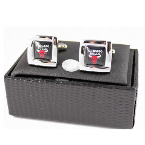 Chicago Bulls Cufflinks - wedding grooms gift set