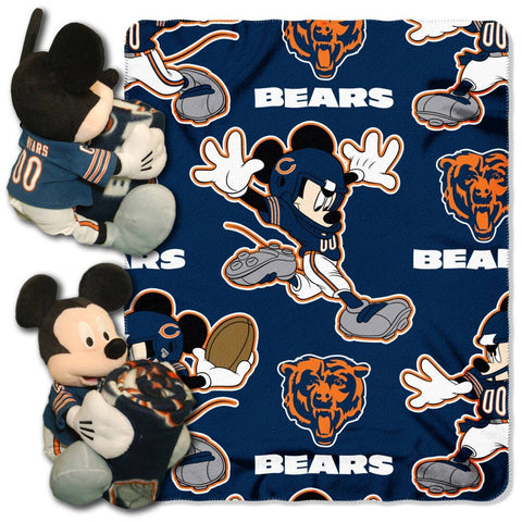 Chicago Bears Blanket - Mickey Hugger and Fleece Throw Set