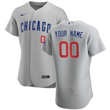 Chicago Cubs Jersey - Custom Name and Number - Grey