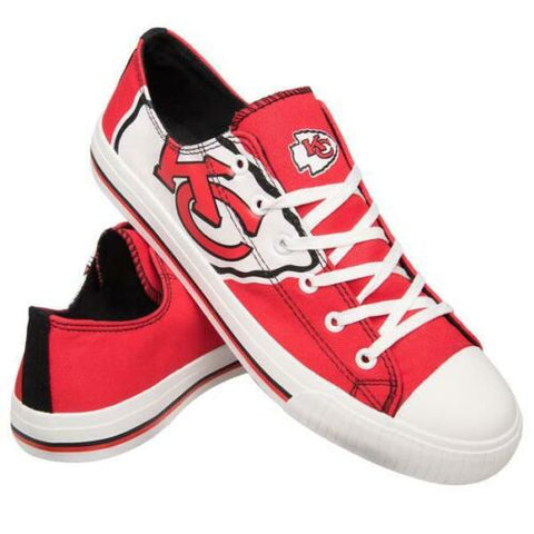 Kansas City Chiefs Shoes - Men's Low Top Canvas Logo Shoe