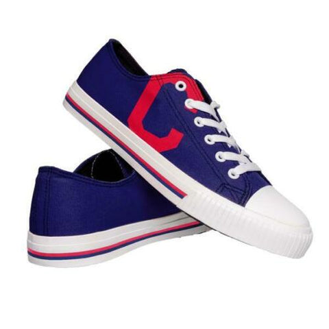 Cleveland Indians Shoes - Men's Low Top Canvas Logo Shoe
