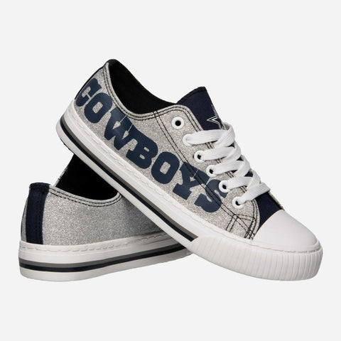 Dallas Cowboys Shoes - Womens Glitter Low Top Canvas Shoe