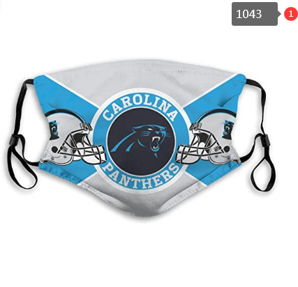 Carolina Panthers Face Mask- Reuseable, Fashionable, Several Styles