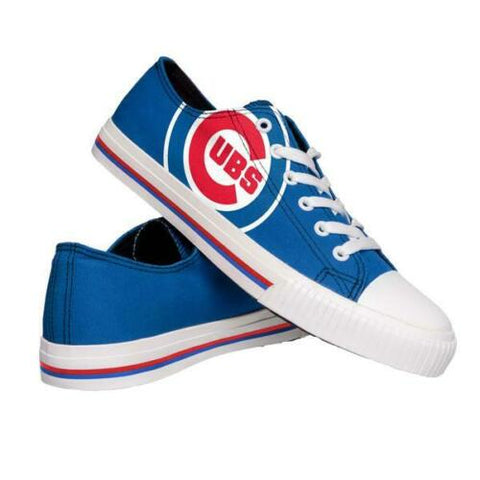 Chicago Cubs Shoes - Men's Low Top Canvas Logo Shoe
