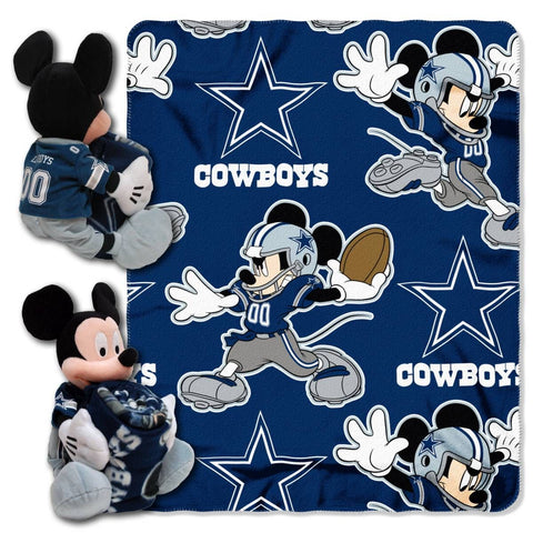 Dallas Cowboys Blanket - Mickey Hugger and Fleece Throw Set