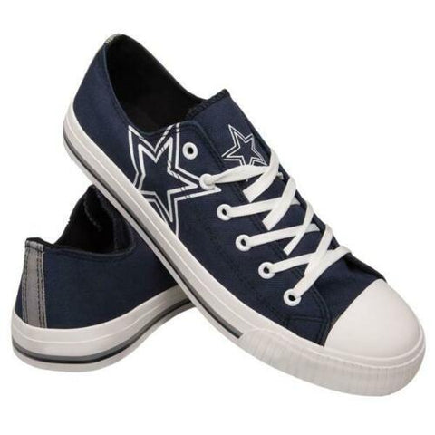 Dallas Cowboys Shoes - Men's Low Top Canvas Logo Shoe