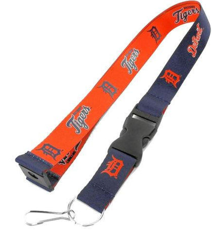 Detroit Tigers reversible lanyard - keychain badge holder