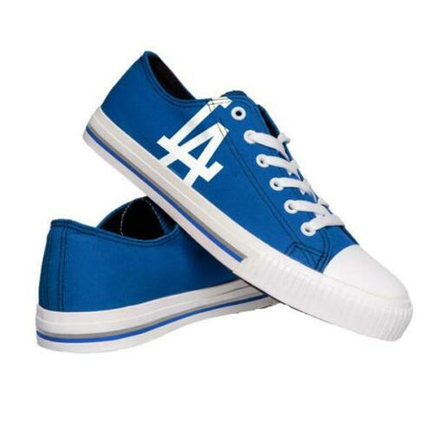 Los Angeles Dodgers Shoes - Men's Low Top Canvas Logo Shoe