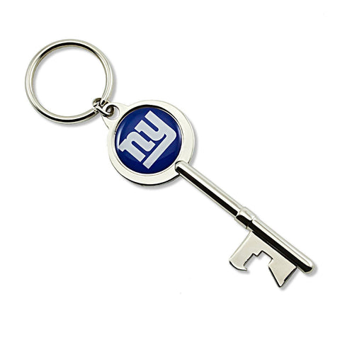 New York Giants Keychain - Skeleton Key Bottle Opener Keychain