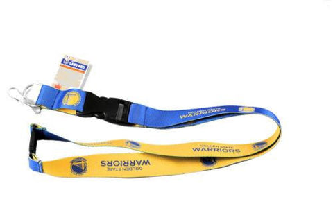 Golden State Warriors reversible lanyard -  keychain badge holder