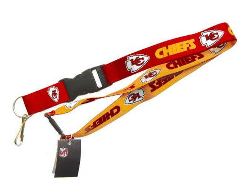 Kansas City Chiefs reversible lanyard - keychain badge holder