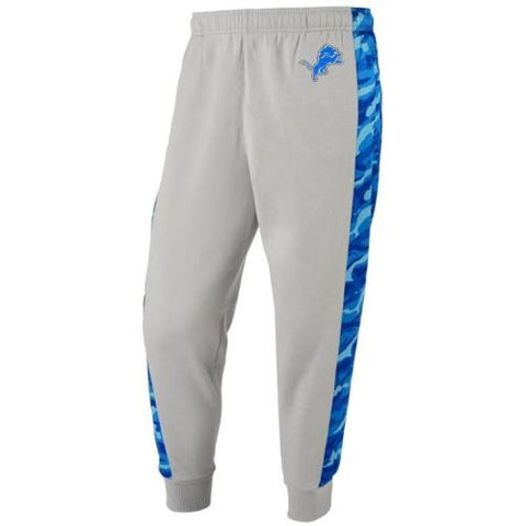 Detroit Lions Pants - Mens Printed Poly Insert Camo Stripe Jogger Pants
