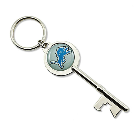Detroit Lions Keychain - Skeleton Key Bottle Opener Keychain