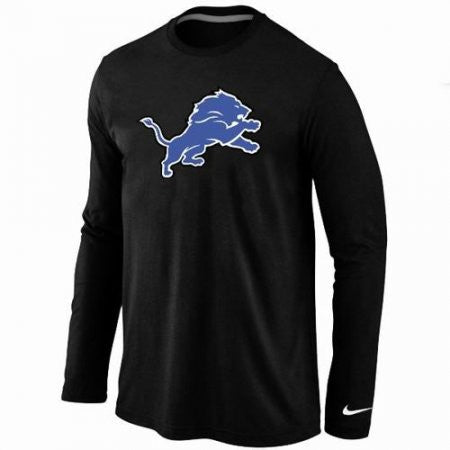 Detroit Lions Shirt - Long Sleeve - Logo black