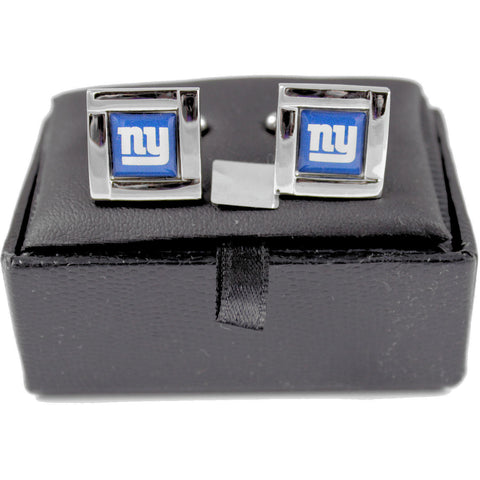 New York Giants Cuff Links - Wedding grooms gift set - Square