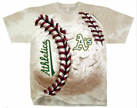 Oakland Athletics Tie Dye Hard Ball T-Shirt