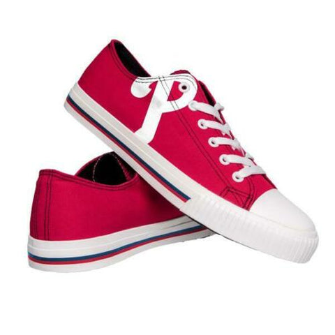 Philadelphia Phillies Shoes - Men's Low Top Canvas Logo Shoe