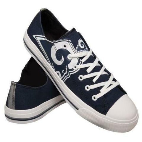 Los Angeles Rams Shoes - Men's Low Top Canvas Logo Shoe
