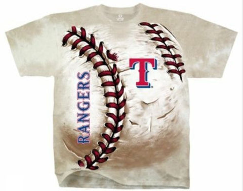 Texas Rangers Tie Dye Hard Ball T-Shirt