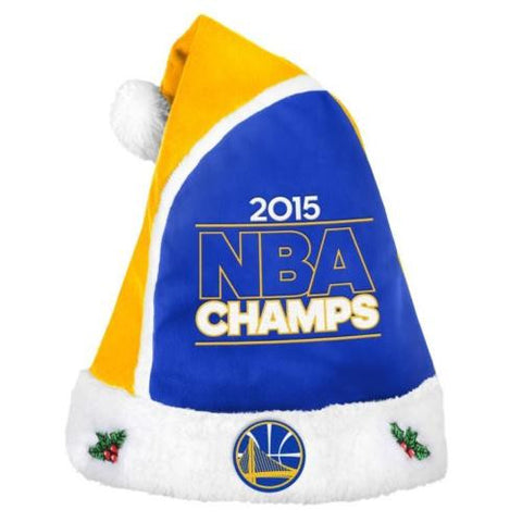 Golden State Warriors Hat -  2015 Champions Santa Hat