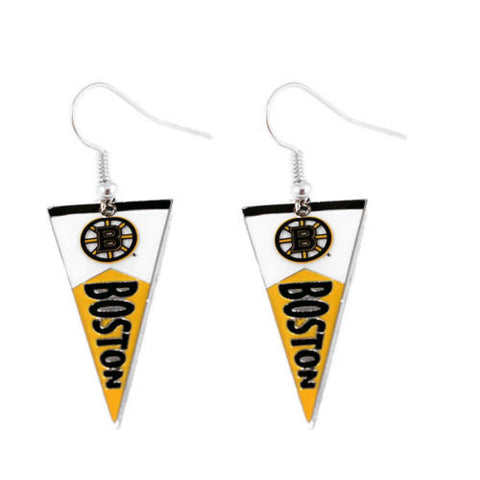 Boston Bruins earrings: pennant earring dangle