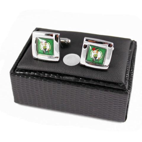 Boston Celtics Cuff Links - wedding grooms gift set