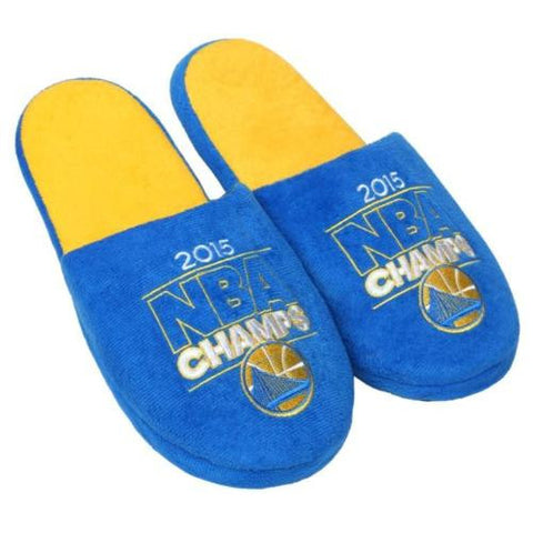 Golden State Warriors 2015 NBA Champions Mens Warm Slide Slipper