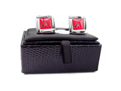 Arizona Diamondbacks Cuff Links - Wedding grooms gift set - Square