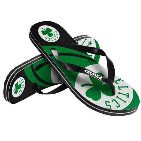 Boston Celtics Sandals-  Logo Unisex Men or Women's Flip Flop Sandals