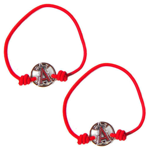 Los Angeles Angels Bracelet - stretch hair tie/bracelet