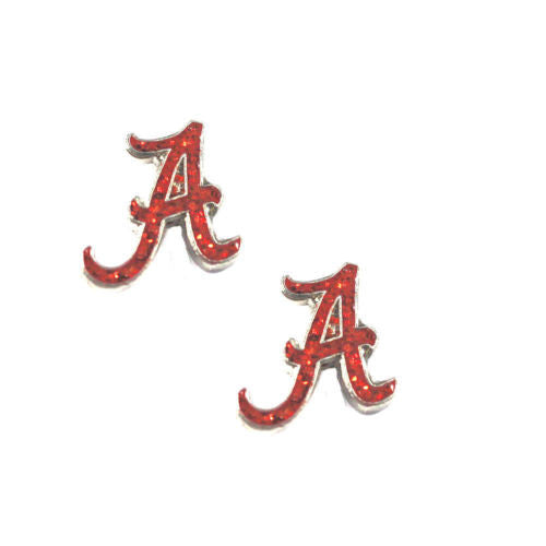 Alabama Crimson Tide Earrings - glitter post stud earring