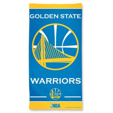 "Golden State Warriors Towel - Fiber Beach Towel, 30"" x 60"""