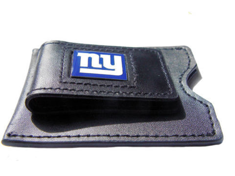 New York Giants leather money clip